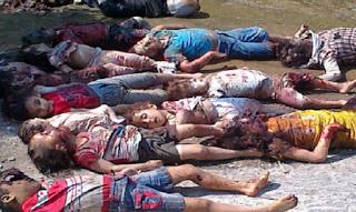 Cristãos sírios massacrados